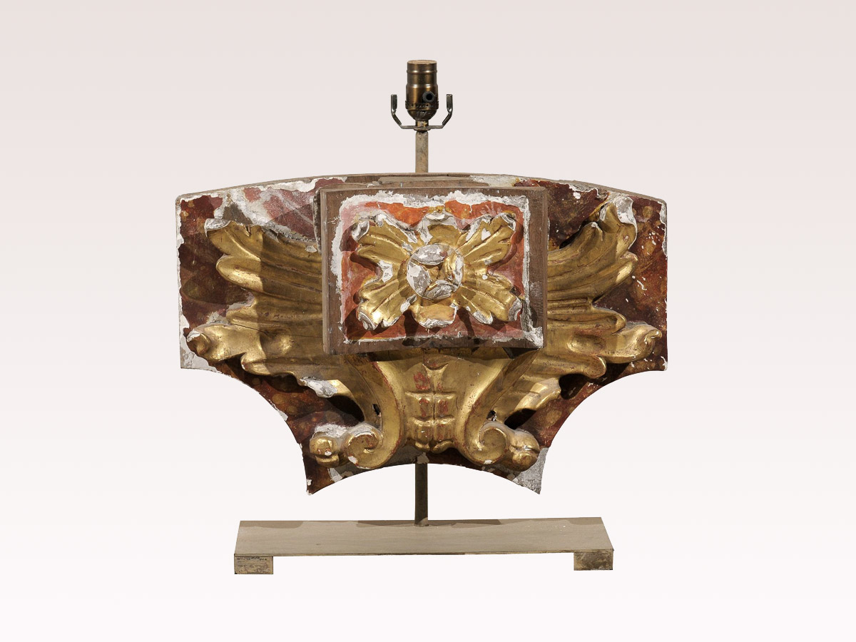 Italian Fragment Mounted as Lamp